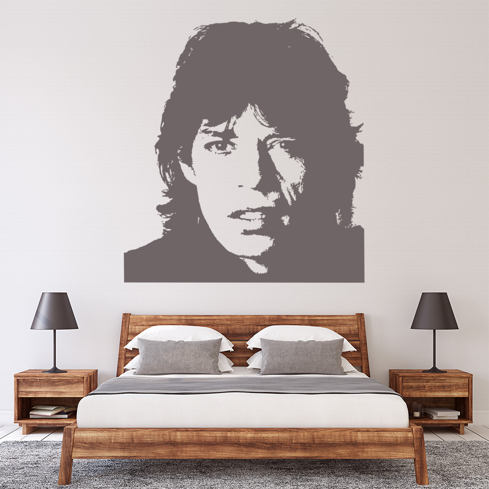 Mick Jagger Portrait Wall Sticker Icon Wall Art