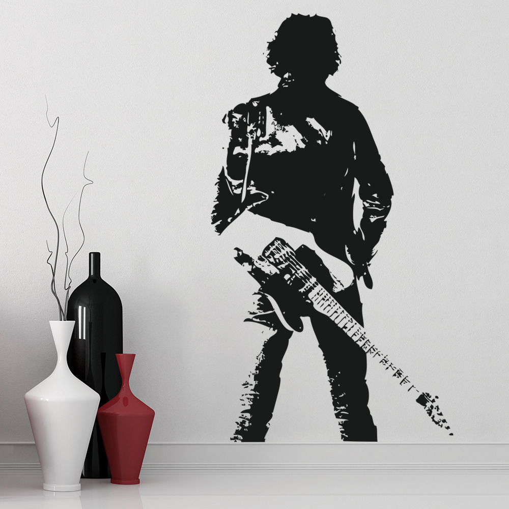 Bruce Springsteen Pose Wall Sticker Icon Wall Art