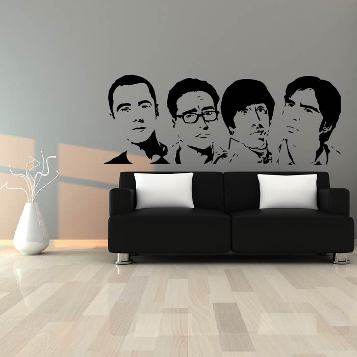 The Big Bang Theory Profiles TV & Movie Wall Stickers Home Decor Art Decals