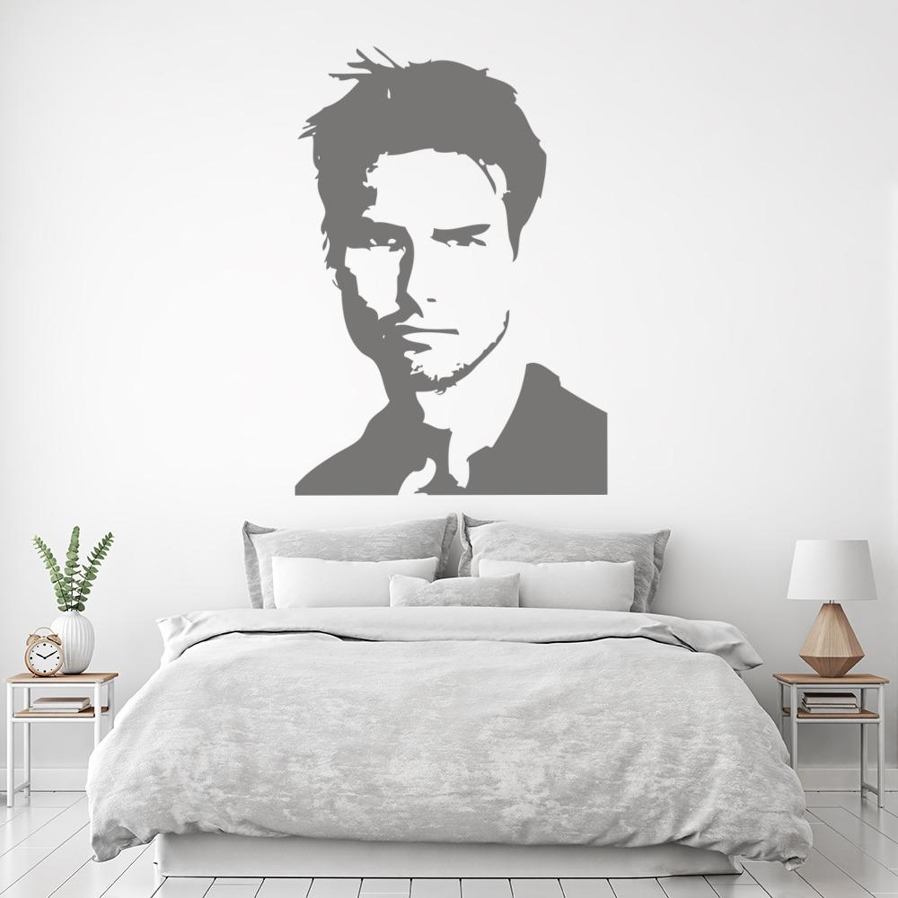Tom Cruise Portrait Wall Sticker Icon Wall Art