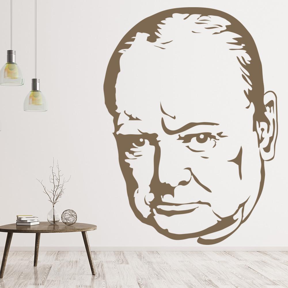 Winston Churchill Portrait Wall Sticker Icon Wall Art