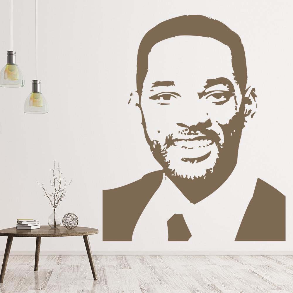 Will Smith Portrait Wall Sticker Icon Wall Art