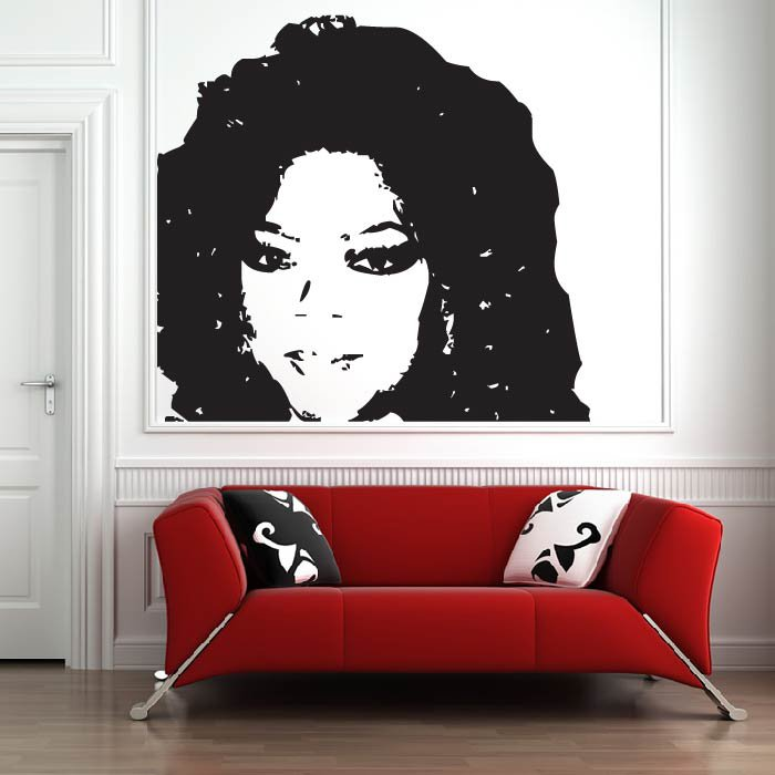 Janet Jackson Wall Sticker Icon Wall Art