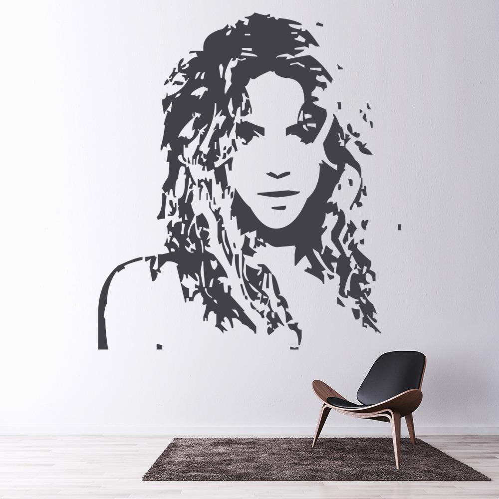 shakira wall sticker icon wall art. Black Bedroom Furniture Sets. Home Design Ideas