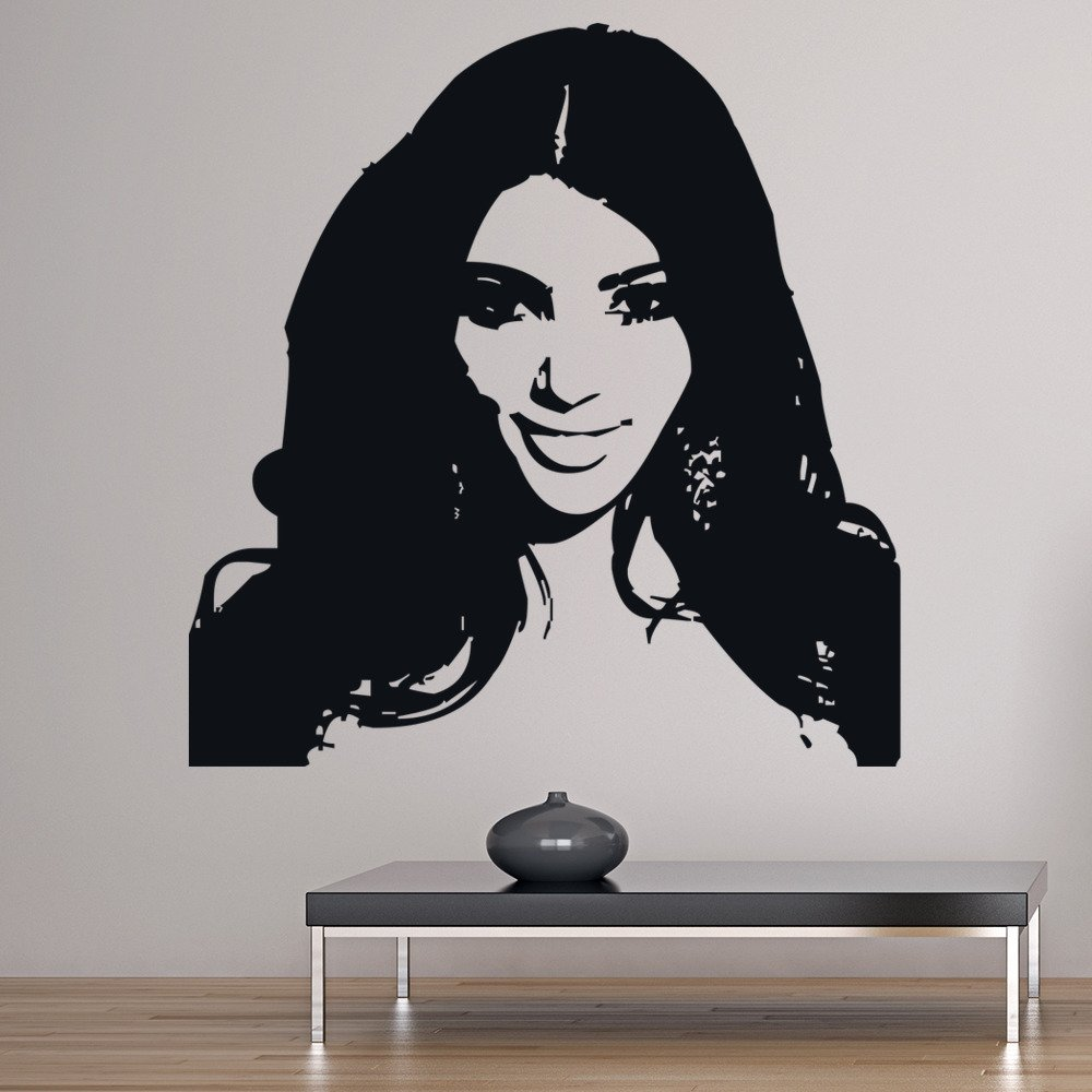 Kim Kardashian Wall Sticker Icon Wall Art