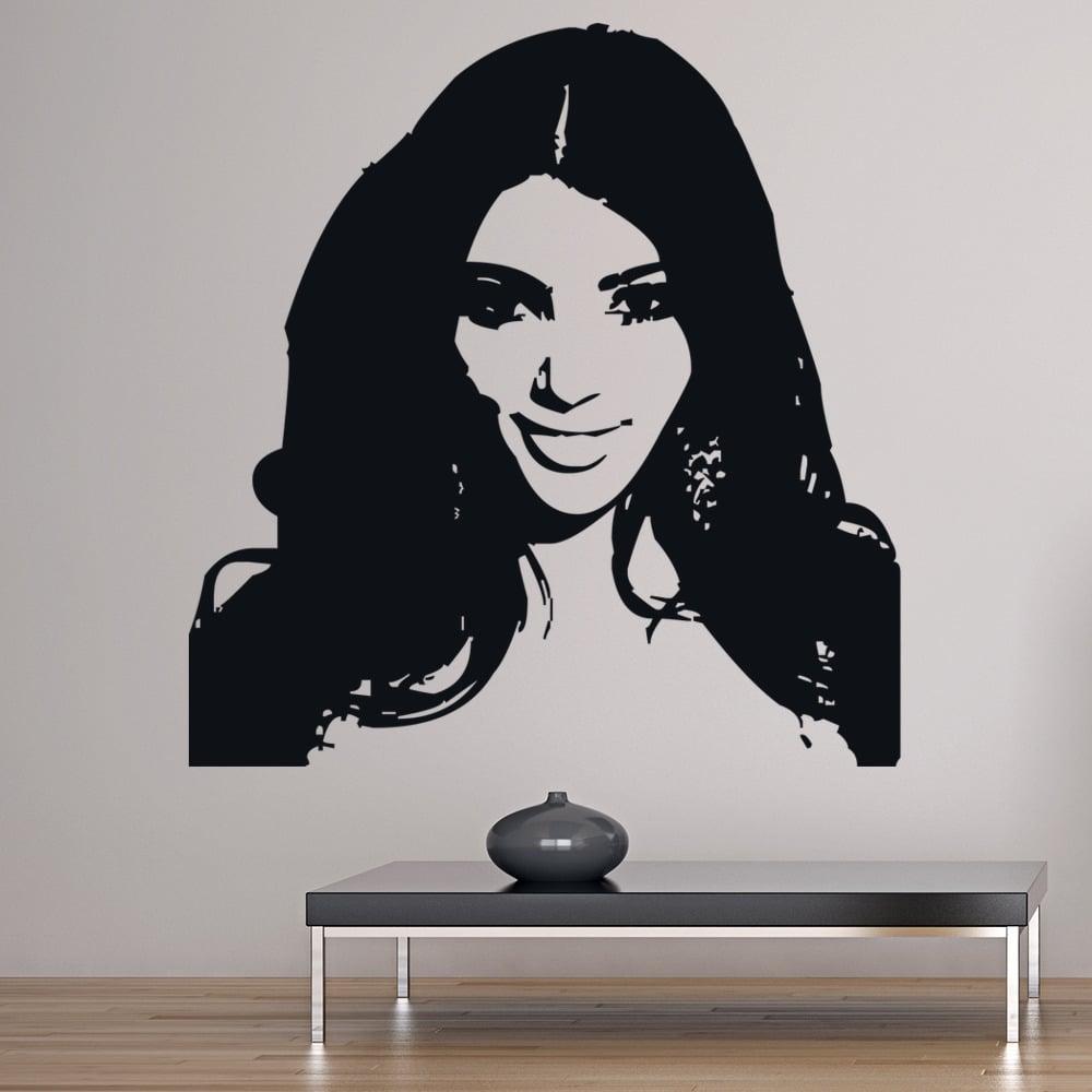 kim kardashian wall sticker icon wall art. Black Bedroom Furniture Sets. Home Design Ideas