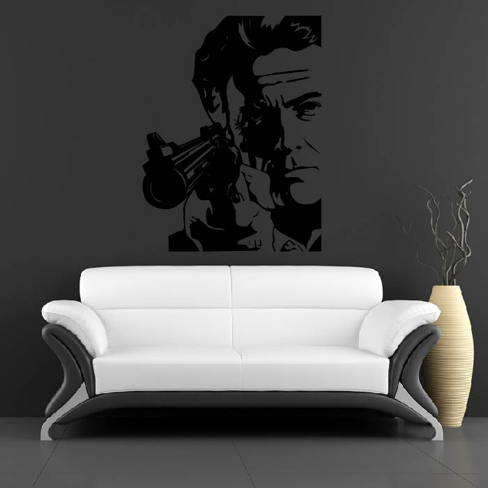 Clint Eastwood Wall Sticker Icon Wall Art