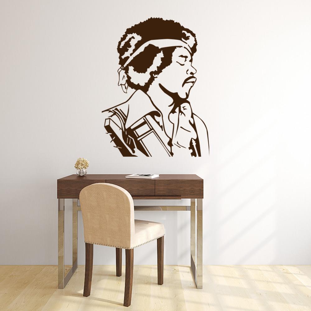 Jimmy Hendrix Portrait Wall Sticker Icon Wall Art