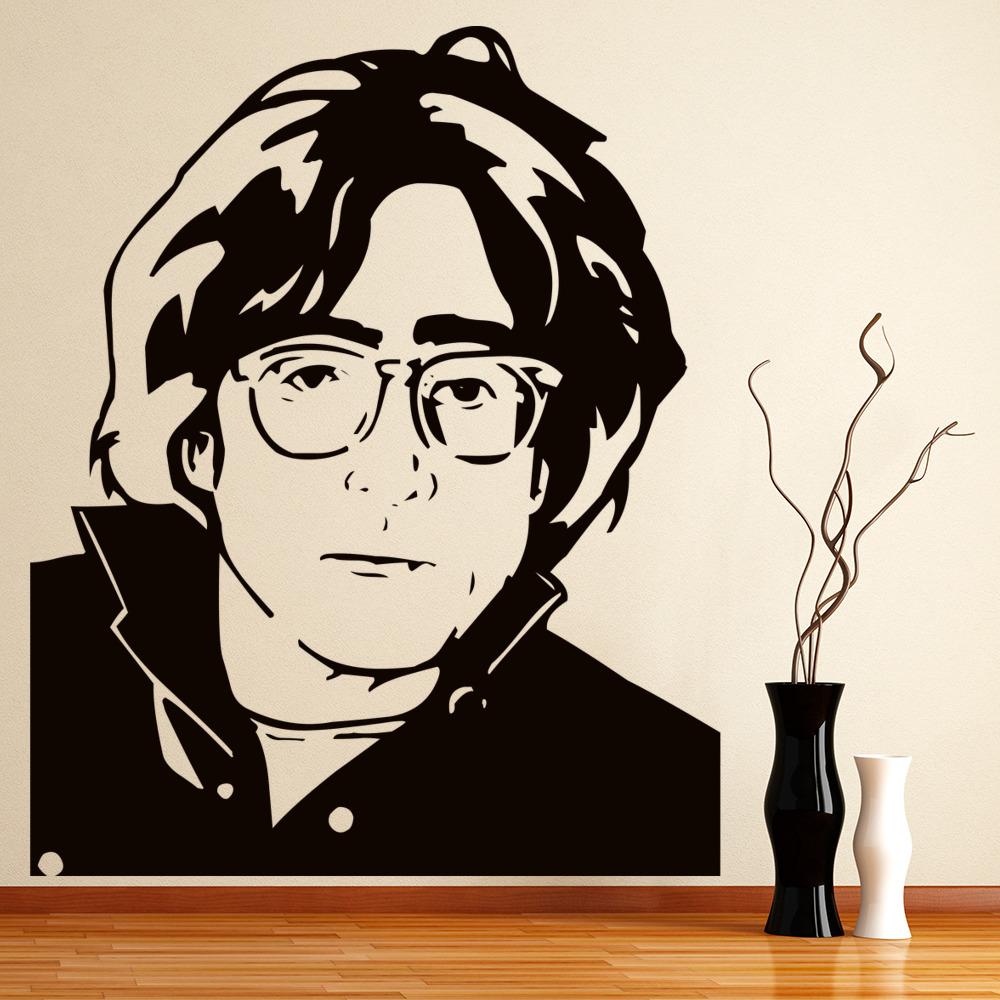 John Lennon Portrait Wall Sticker Icon Wall Art