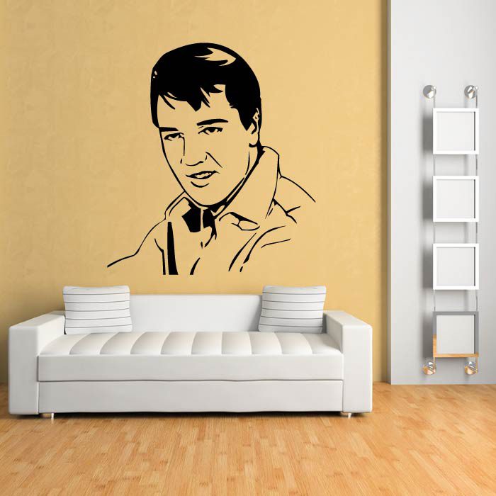 Elvis Close Up Wall Sticker Icon Wall Art