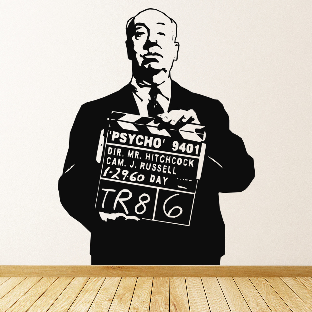 Alfred Hitchcock Wall Sticker Icon Wall Art