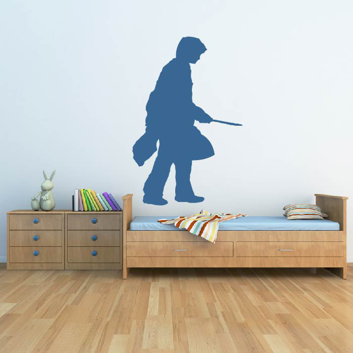 harry potter silhouette wall sticker icon wall art