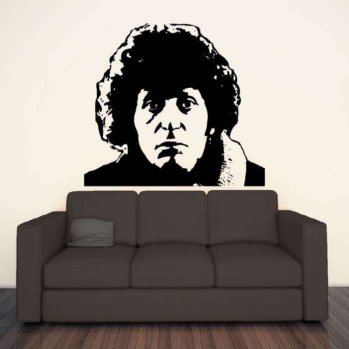 The Fourth Doctor Tom Baker Doctor Who TV & Movie Wall Stickers Home Art Decals