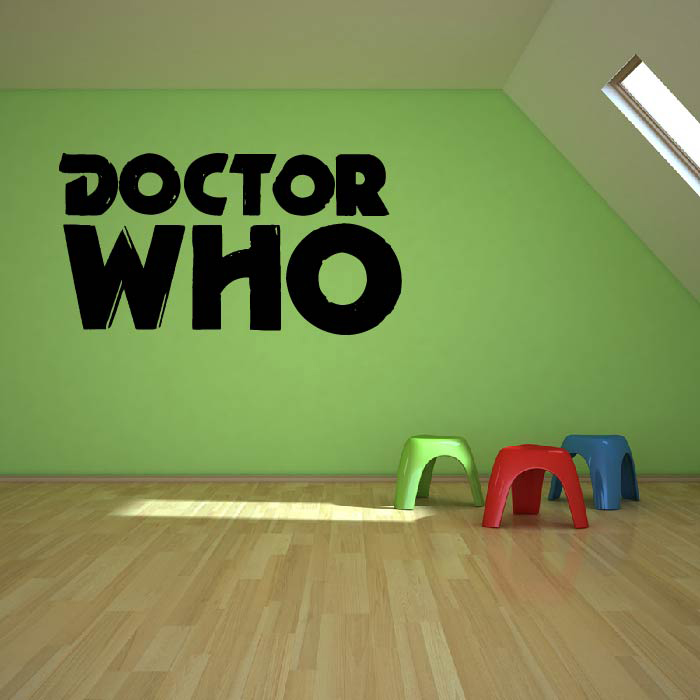 Dr Who Classic Text Logo Doctor Who Sci-Fi TV & Movie Wall Stickers Home Decals