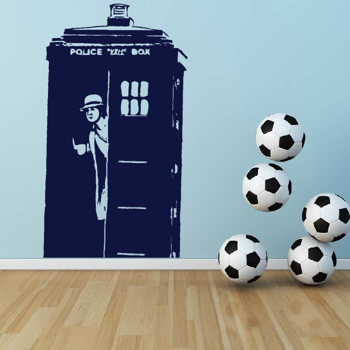Tardis And The 9th Doctor Doctor Who Sci-Fi TV & Movie Wall Stickers Home Decals