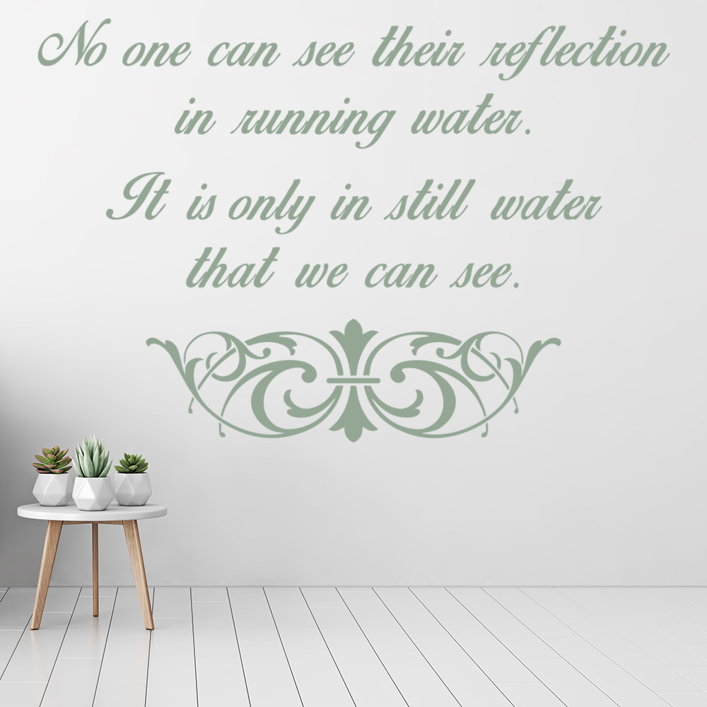 No One Can See Their Reflection Life And Inspirational Quote Wall Sticker Decals