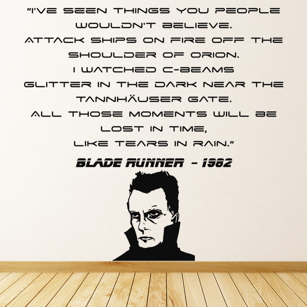 Lost In Time… Blade Runner 1982 TV & Movie Wall Stickers Home Decor Art Decals