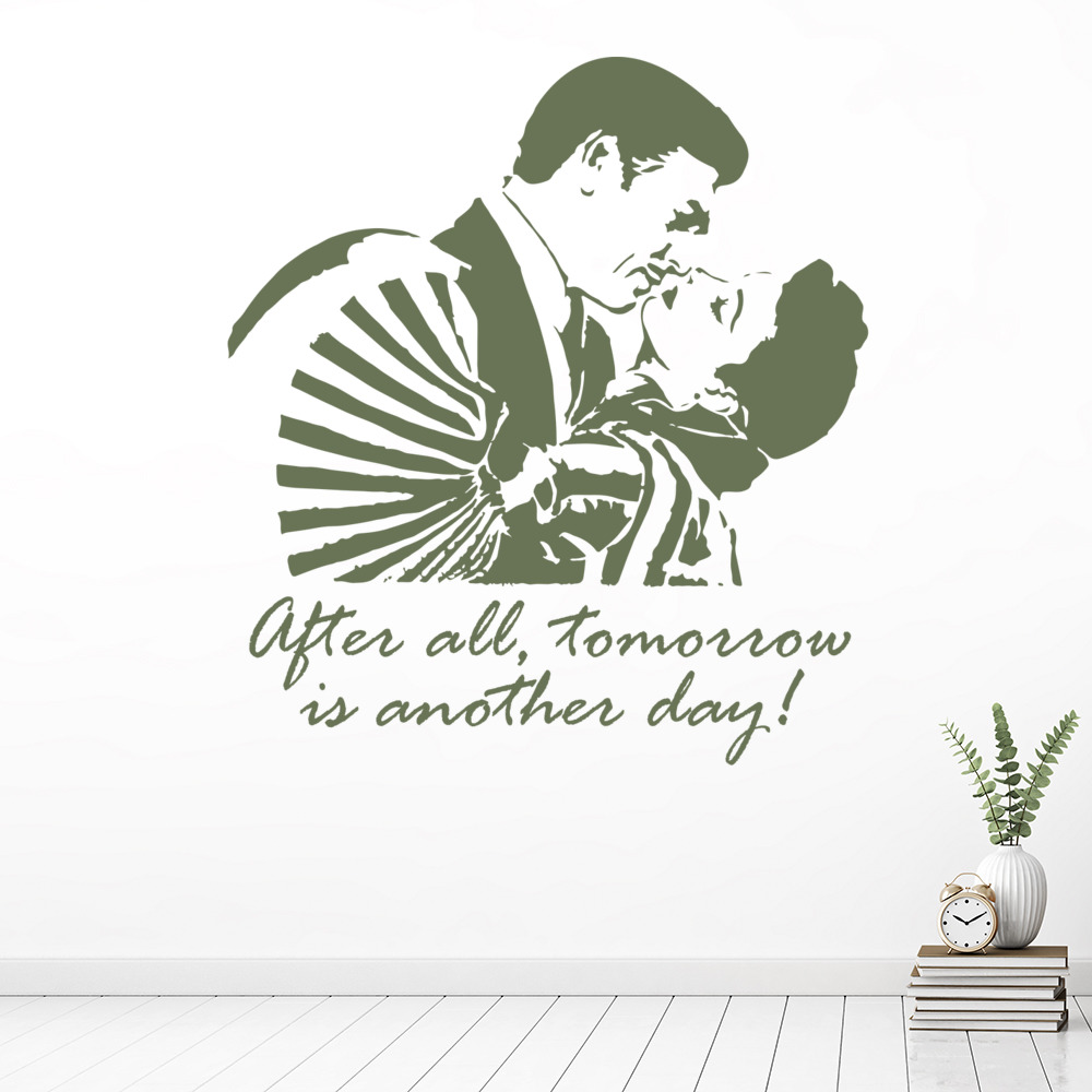 Wall Art Stickers Next Day Delivery : After all tomorrow is another day wall sticker casablanca