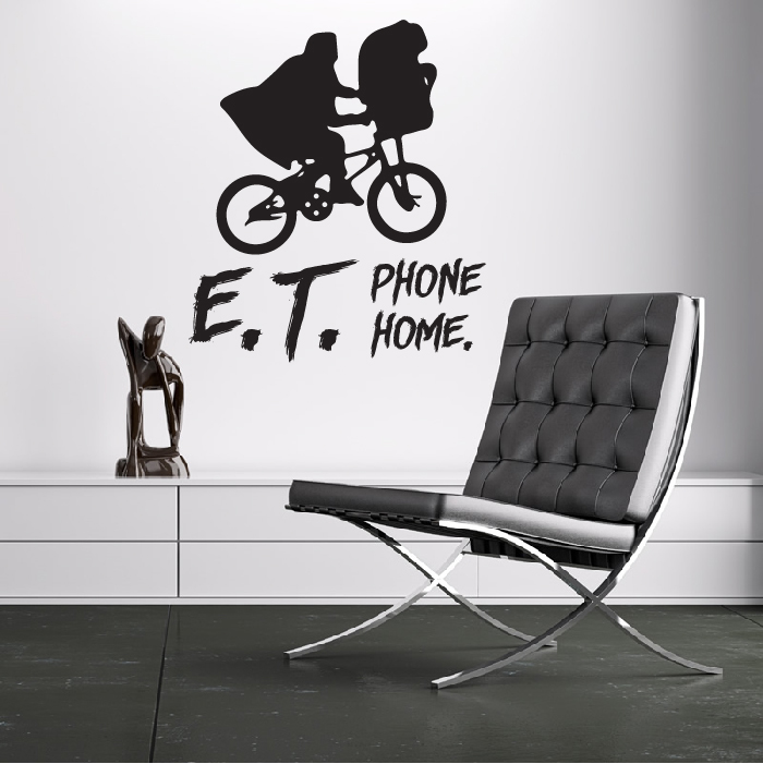 E.T. Phone Home ET Alien Spielberg TV & Movie Wall Sticker Home Decor Art Decals