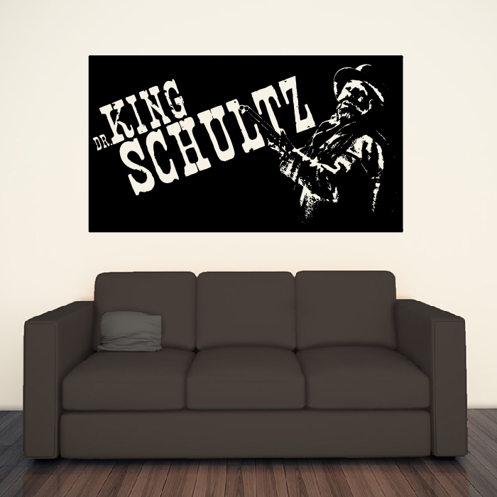 Dr King Schultz Django Unchained TV & Movie Wall Stickers Home Decor Art Decals