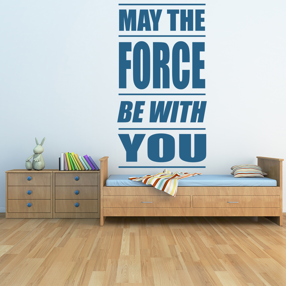 May The Force Be With You Star Wars Sci-Fi TV & Movie Wall Stickers Home Decals