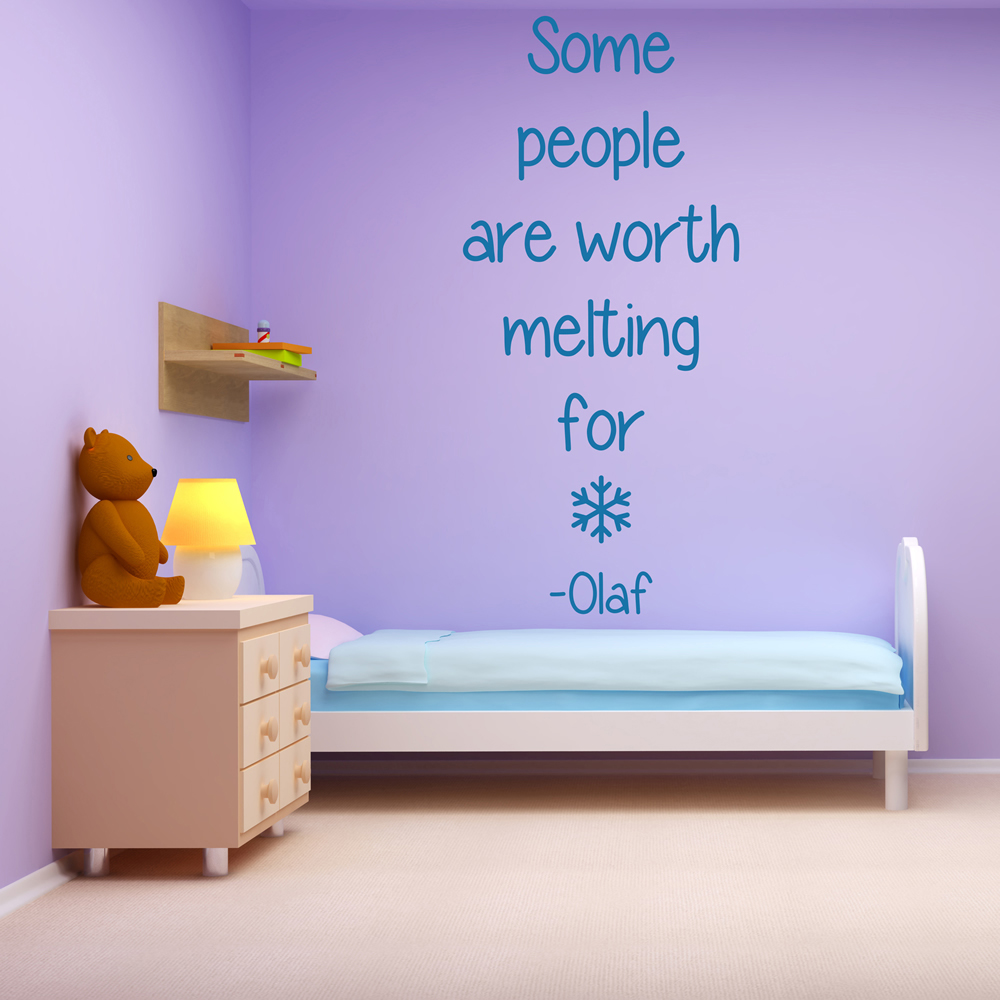 Some People Are Worth Melting For Frozen TV & Movie Wall Sticker Kids Art Decals