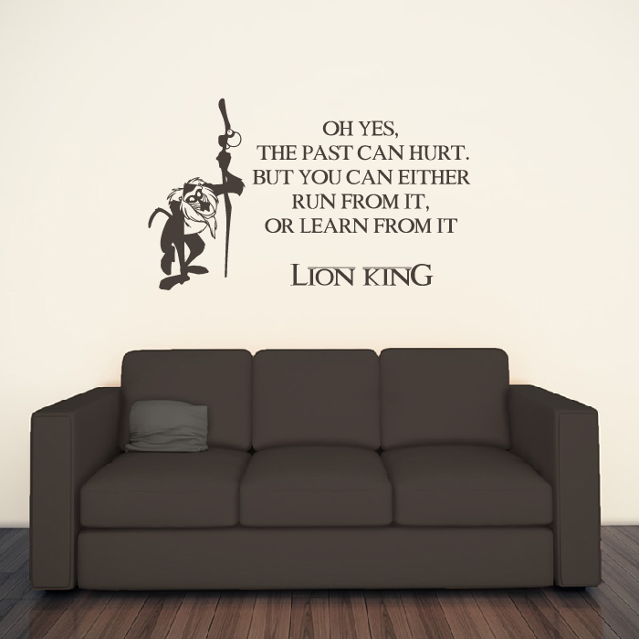 lion king wall sticker movie quote wall decal kids bedroom home decor. Black Bedroom Furniture Sets. Home Design Ideas