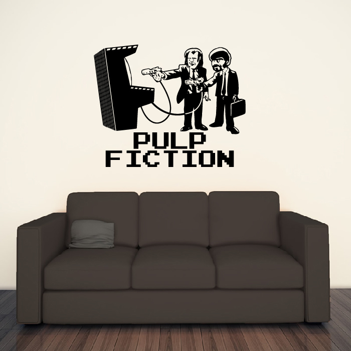 Pulp Fiction Arcade Movie Gaming & Entertainment Wall Stickers Home Art Decals