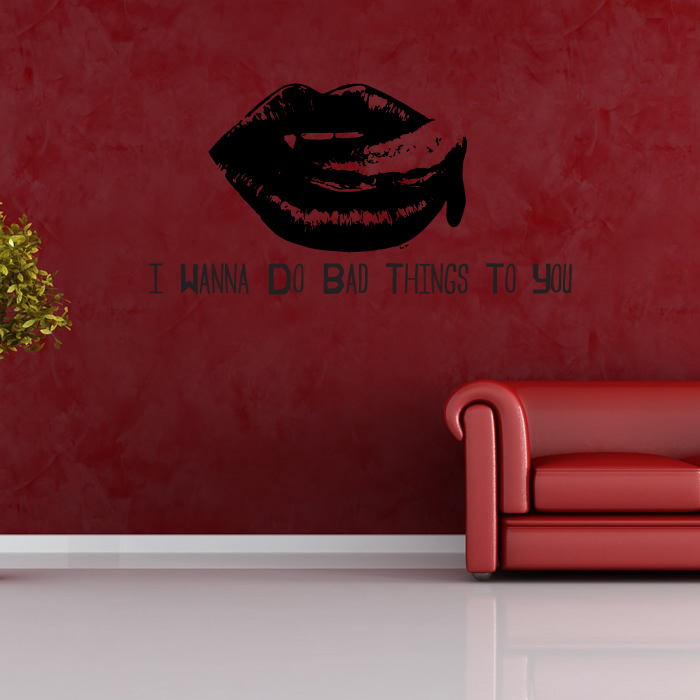 I Wanna Do Bad Things True Blood TV & Movie Wall Stickers Home Decor Art Decals