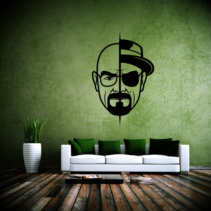 Walter White Heisenberg Breaking Bad TV & Movie Wall Stickers Home Art Decals