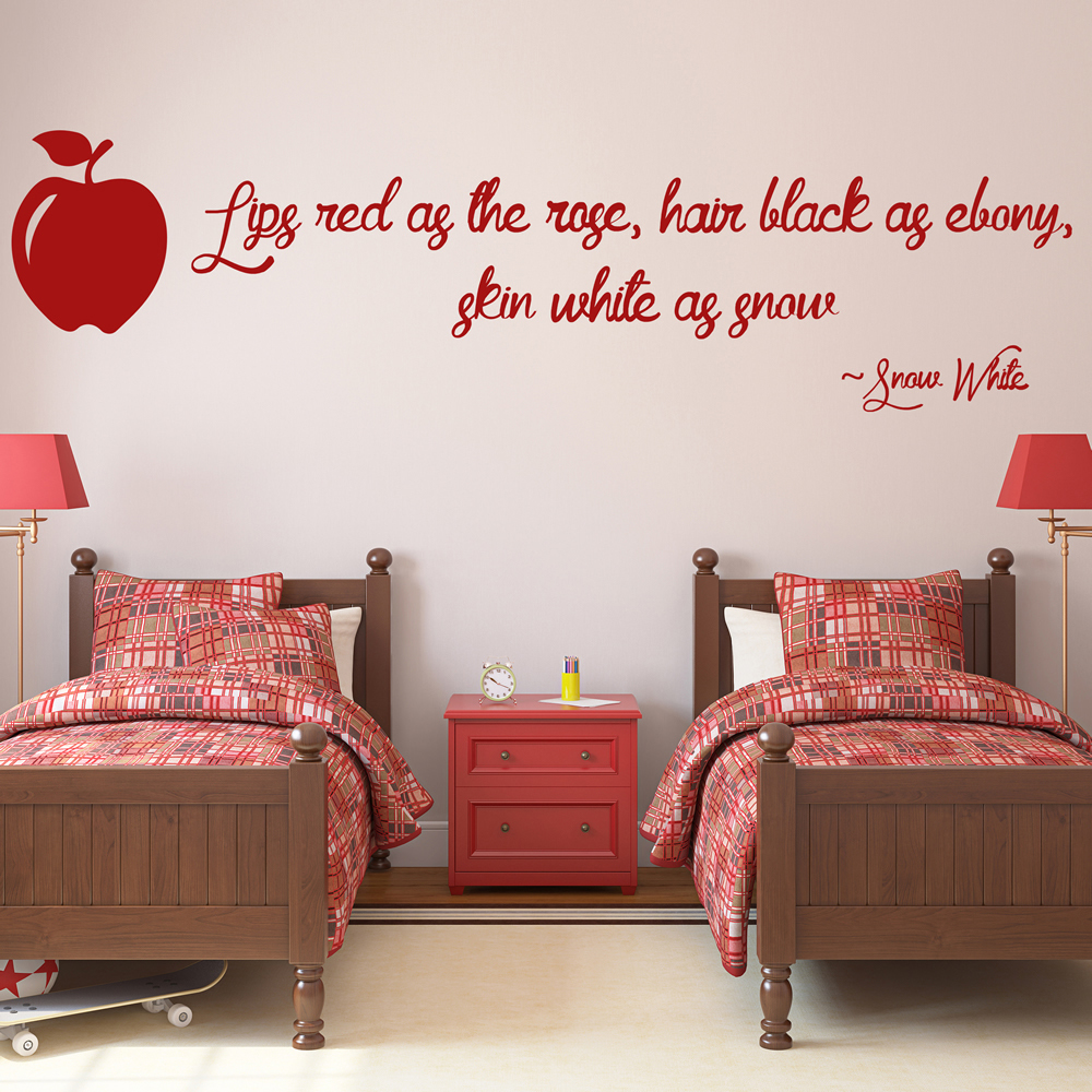 Snow White Quote Princess And Fairy Wall Stickers Bedroom Decor Art Decals