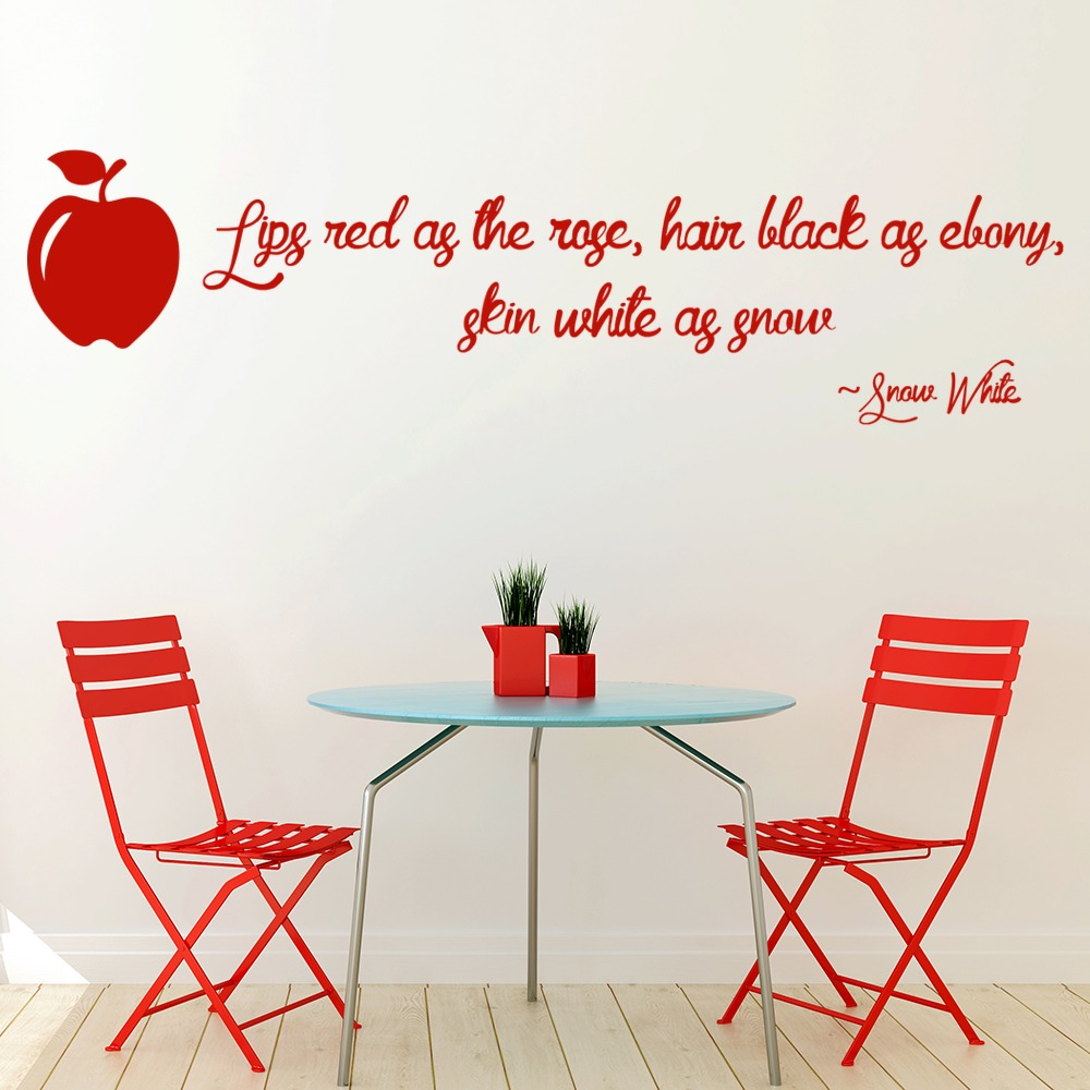 snow white wall sticker quote wall art snow white wall stickers