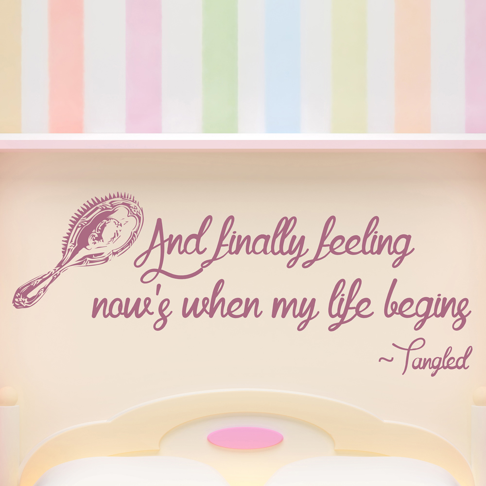Tangled Wall Sticker Quote Wall Art