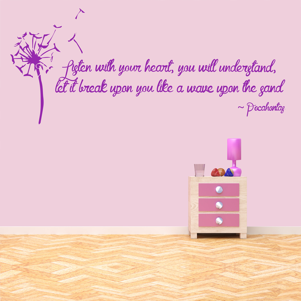 Pocahontas Wall Sticker Quote Wall Art