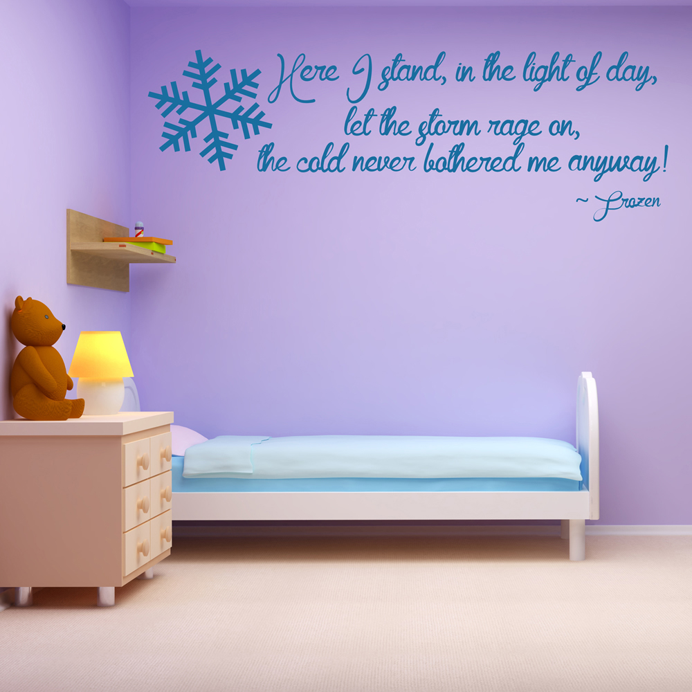 Elsa Frozen Wall Sticker Quote Wall Art