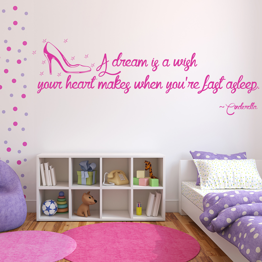 cinderella wall sticker quote wall art cinderella princess wall sticker fairytale wall decal
