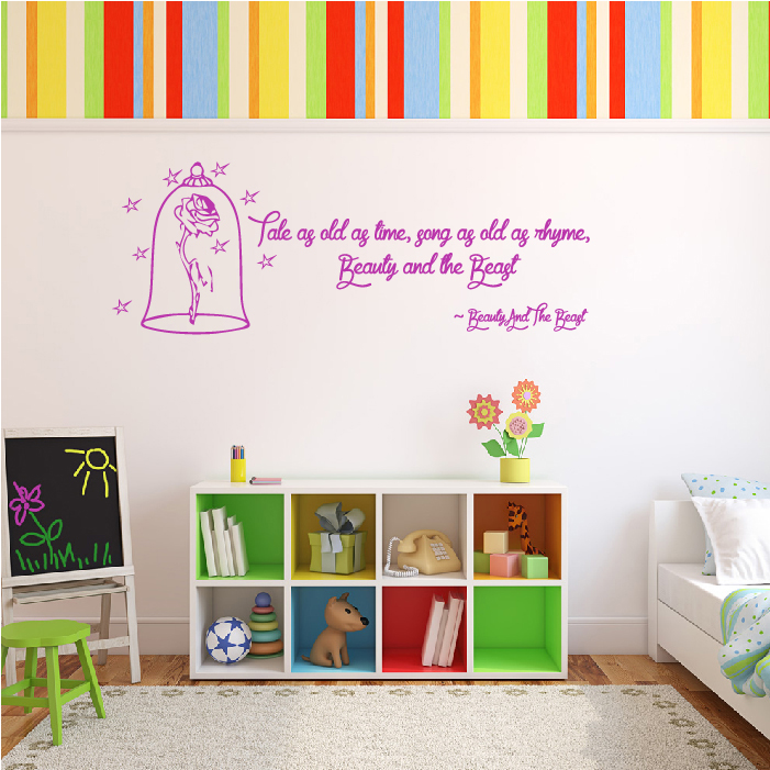 Beauty And The Beast Wall Sticker Quote Wall Art