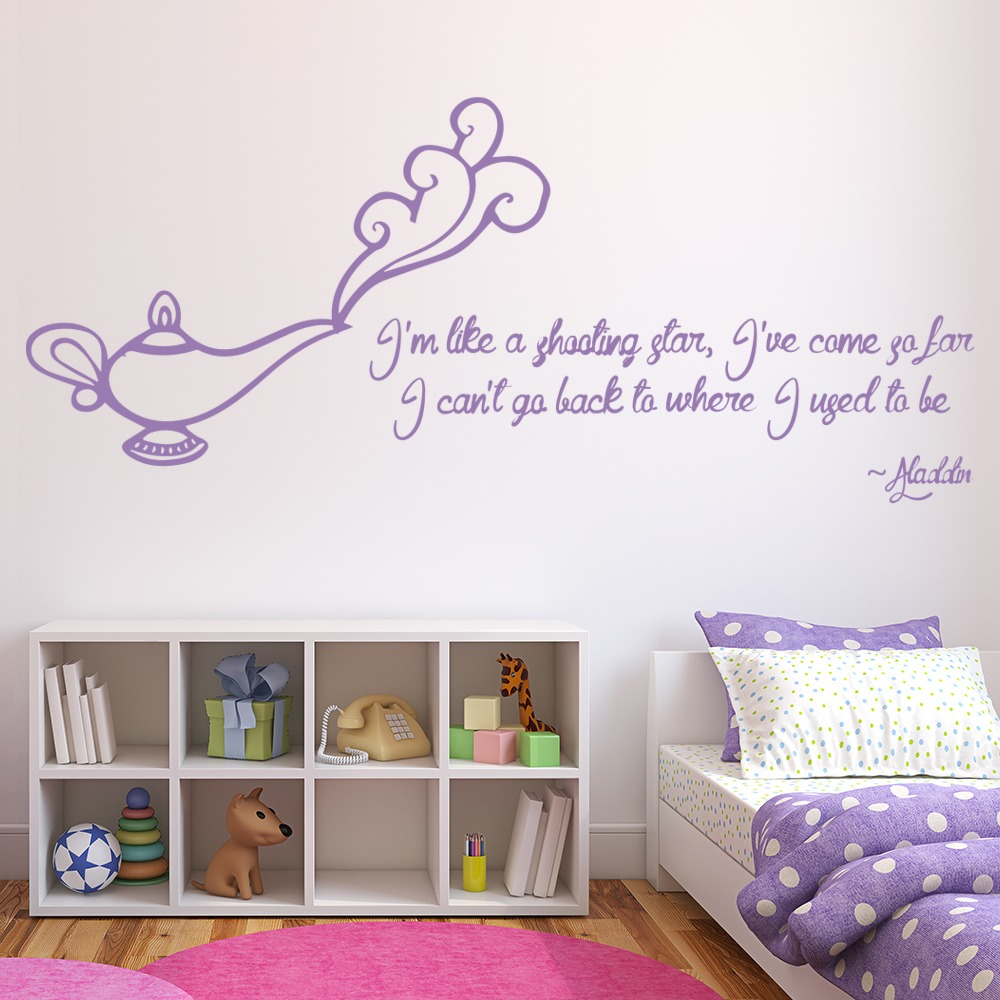 Aladdin Jasmine Quote Princess And Fairy Wall Stickers Bedroom Decor Art Decals