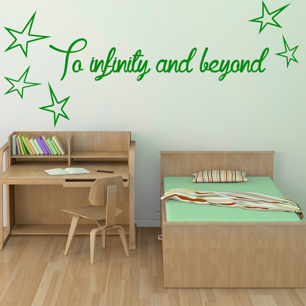 To Infinity And Beyond Life And Inspirational Quote Wall Sticker Home Art Decals
