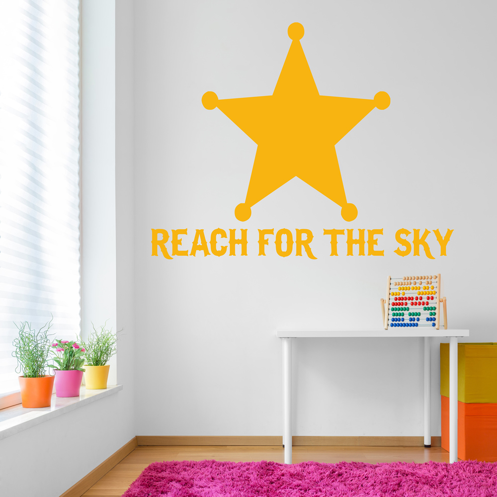 Reach For The Sky Life And Inspirational Quote Wall Sticker Home Decor Art Decal