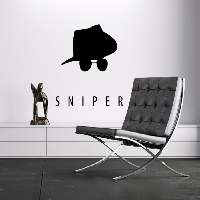 Sniper Team Fortress 2 Gaming & Entertainment Wall Stickers Home Art Decals