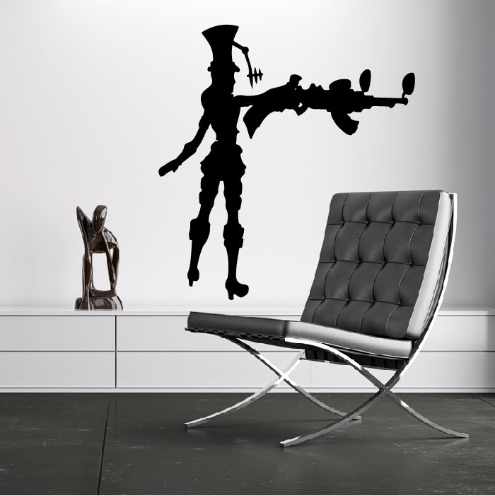 Caitlyn League Of Legends Gaming & Entertainment Wall Stickers Home Art Decals