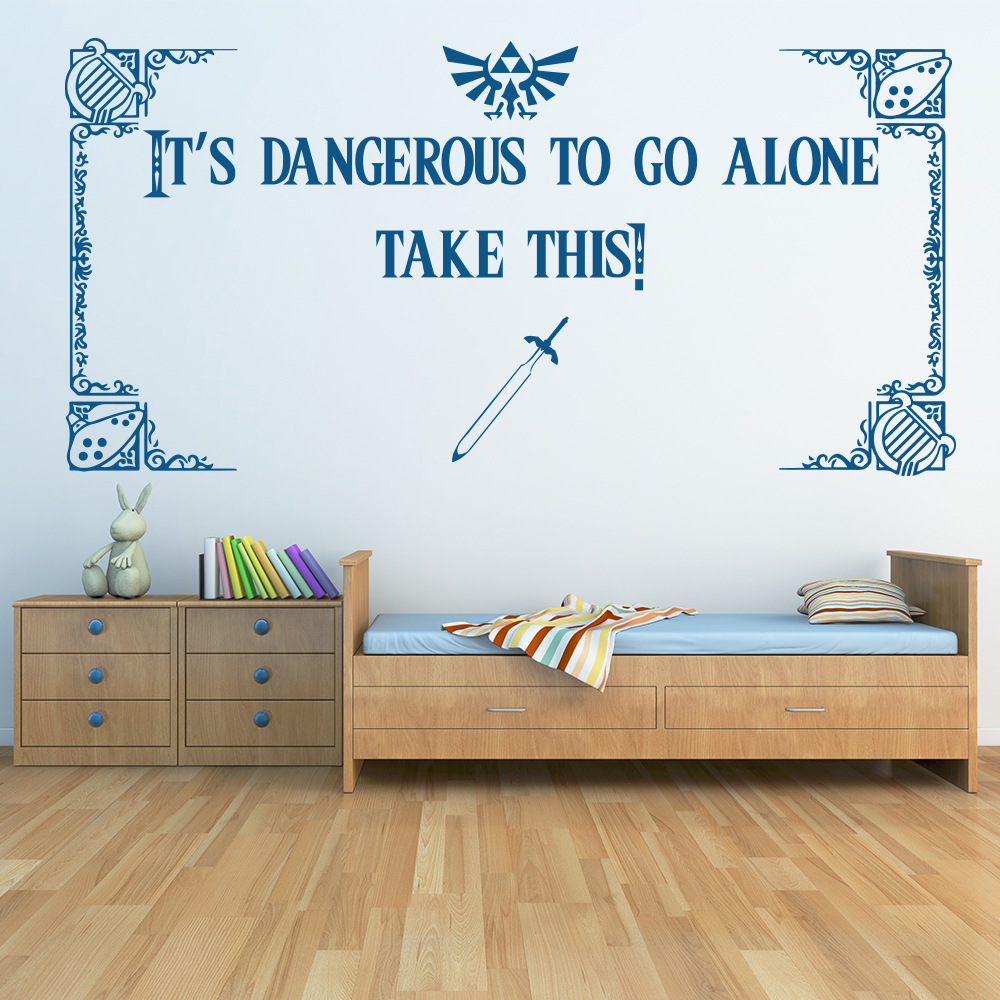 Take This! Zelda Quote Gaming & Entertainment Wall Stickers Home Art Decals