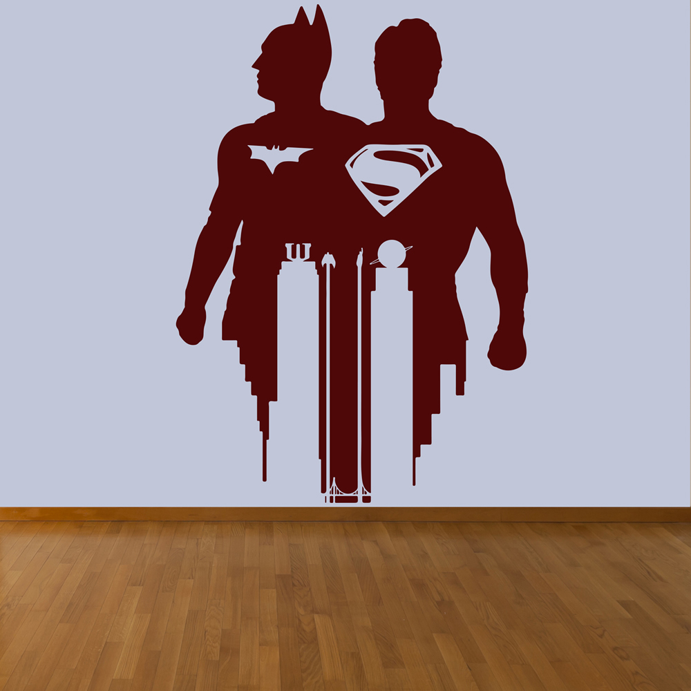 Superman Vs Batman Superhero Gaming & Entertainment Wall Sticker Home Art Decal