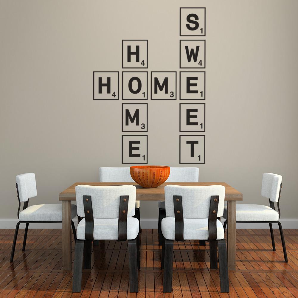 Home Sweet Home Wall Sticker Scrabble Tiles Wall Art