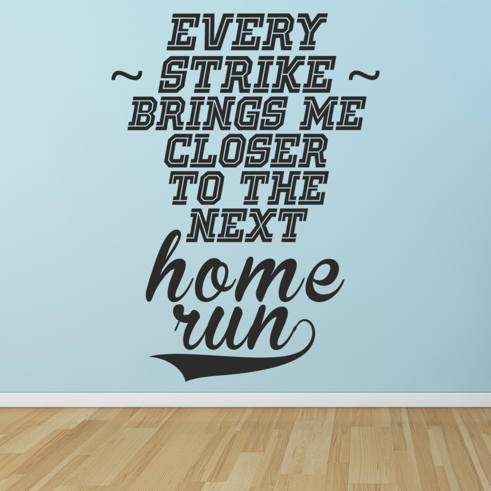 Every Strike Brings Me Closer… Life And Inspirational Quote Wall Stickers Decals