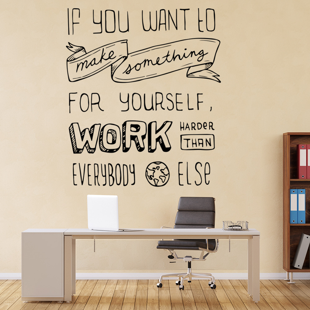 If You Want To Make Something… Life And Inspirational Quote Wall Stickers Decals