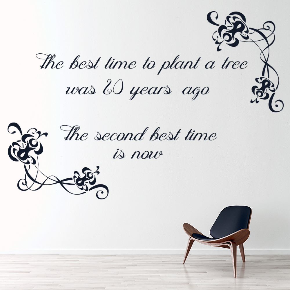 The best time to plant a tree wall sticker inspirational for Inspiring dollar tree wall decals