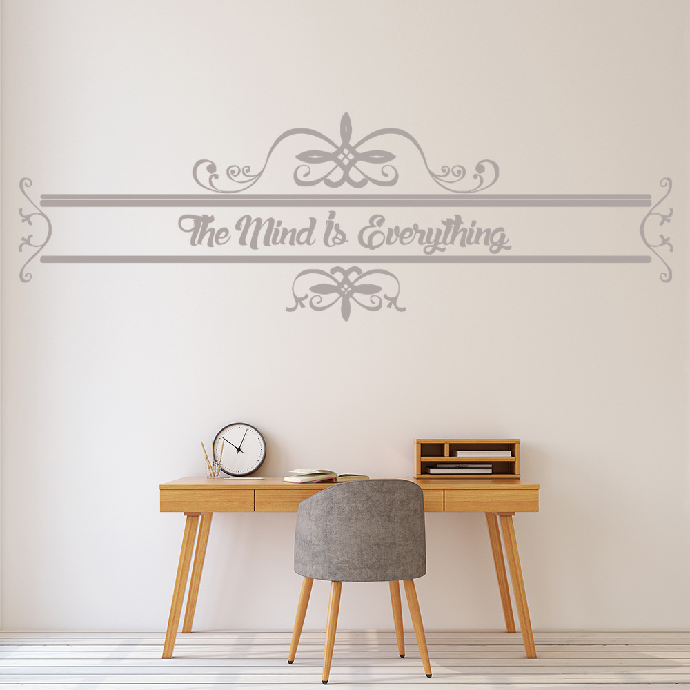 The Mind Is Everything… Life And Inspirational Quote Wall Sticker Home Art Decal