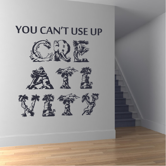 You Can't Use Up Creativity… Life And Inspirational Quote Wall Sticker Art Decal